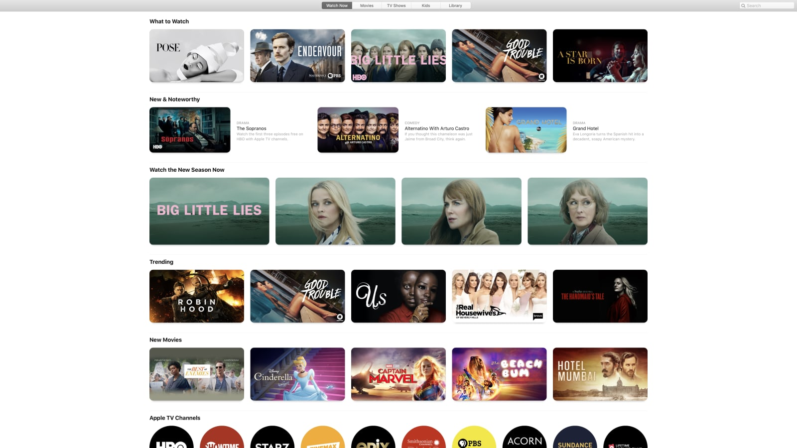 macOS Catalina TV app