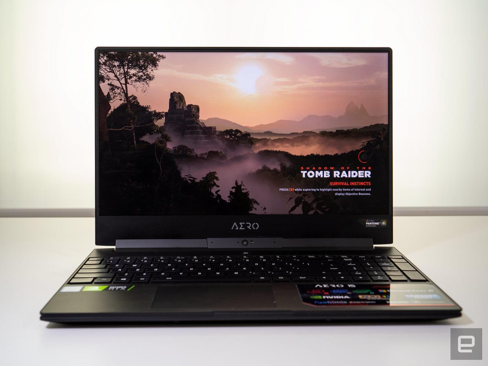 Gigabyte Aero 15 Y9 gaming laptop with NVIDIA RTX 2080 Max-Q graphics