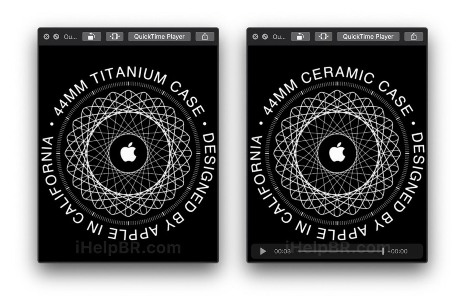 Apple Watch titanium and ceramic animations
