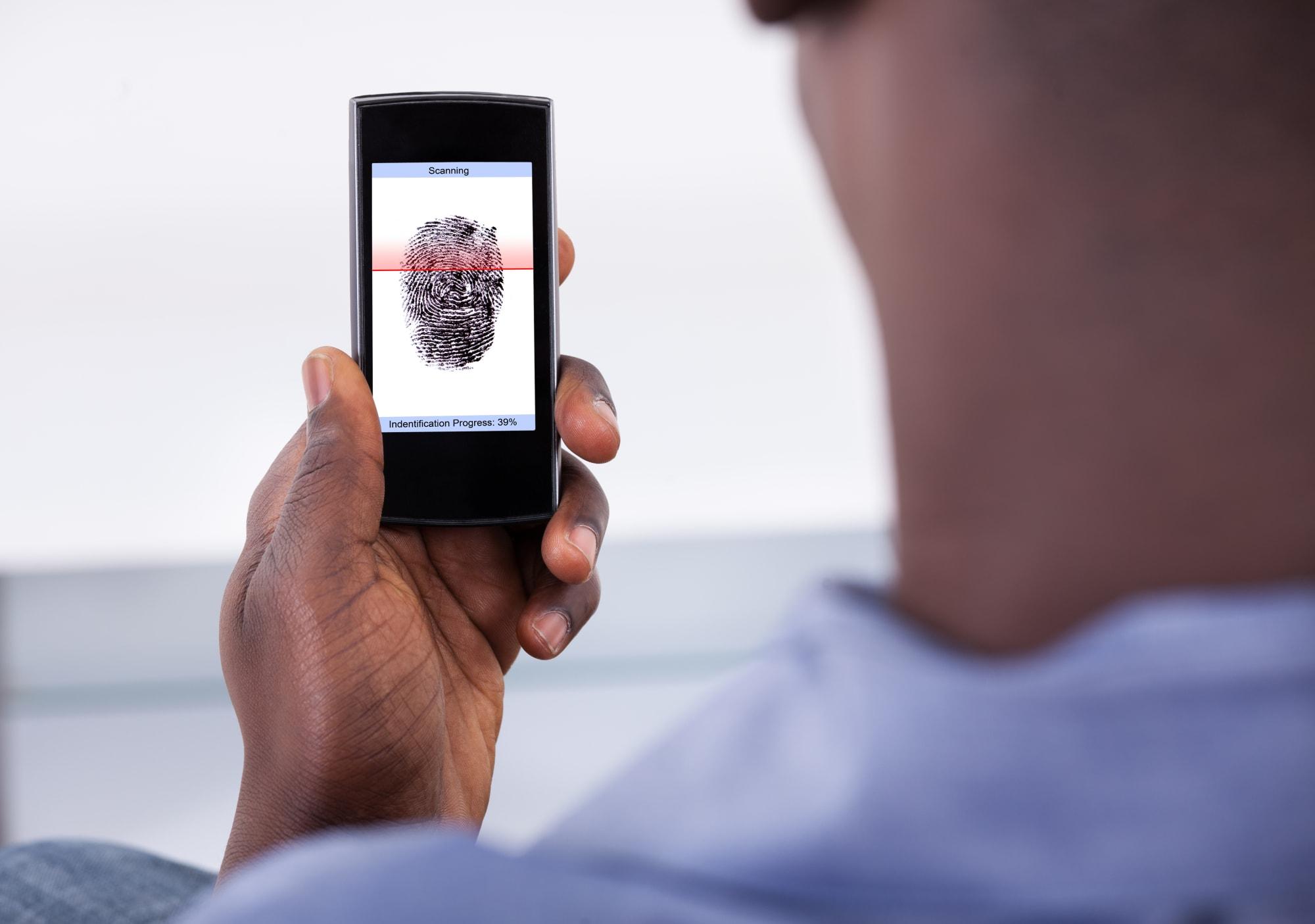 Mobile Phone Authentication Using Fingerprint Scan