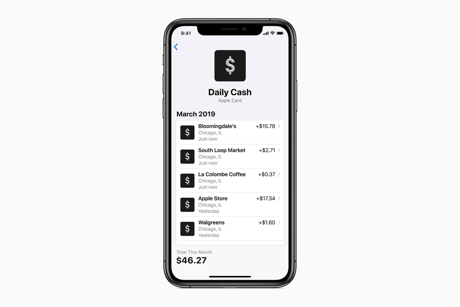 Apple Card cash