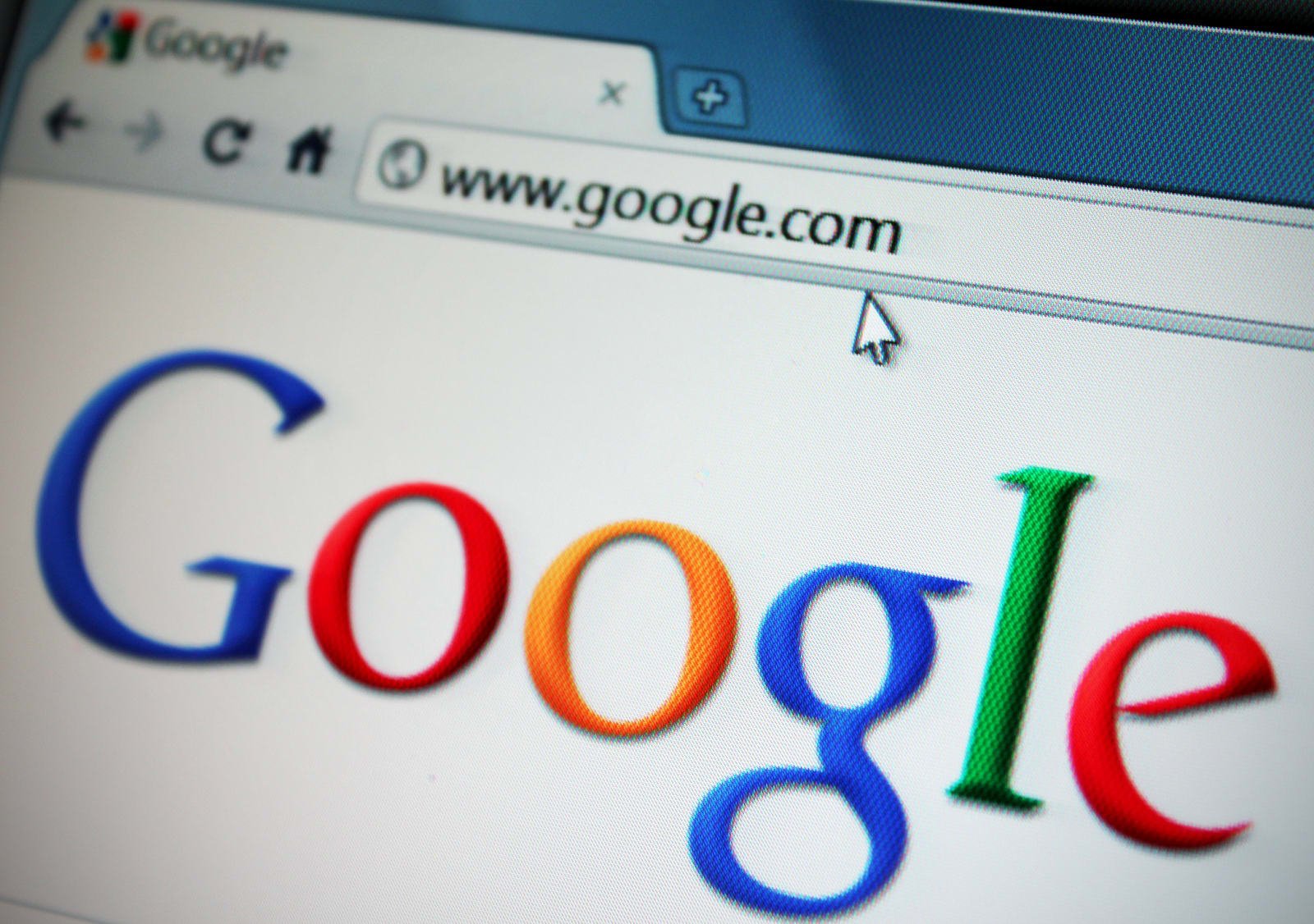 Detroit, Michigan, USA - April 20, 2011: Google.com viewed through Chrome web browser. Google Inc is an American multinational p
