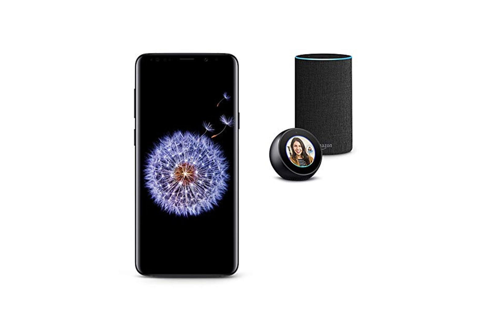Samsung Galaxy S9, Echo Spot, and Echo Bundle