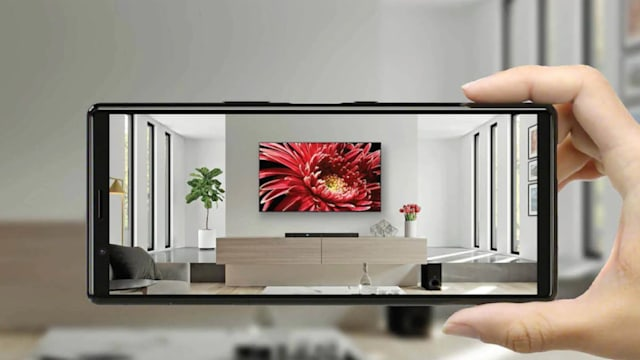 Sony Envision TV AR app on an Xperia phone