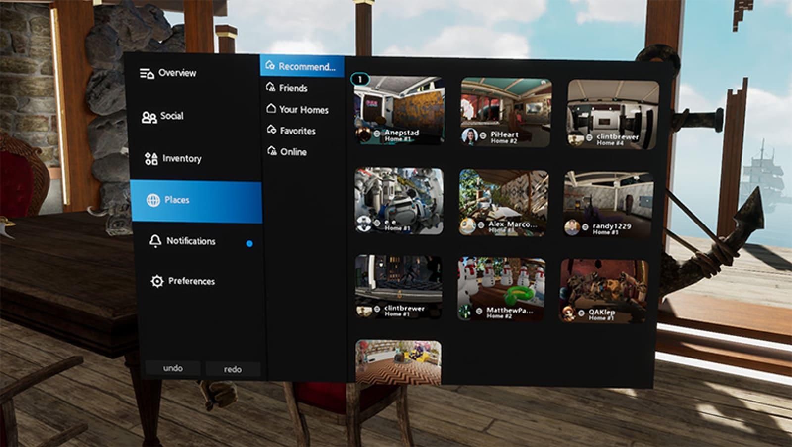Public Homes on Oculus Rift