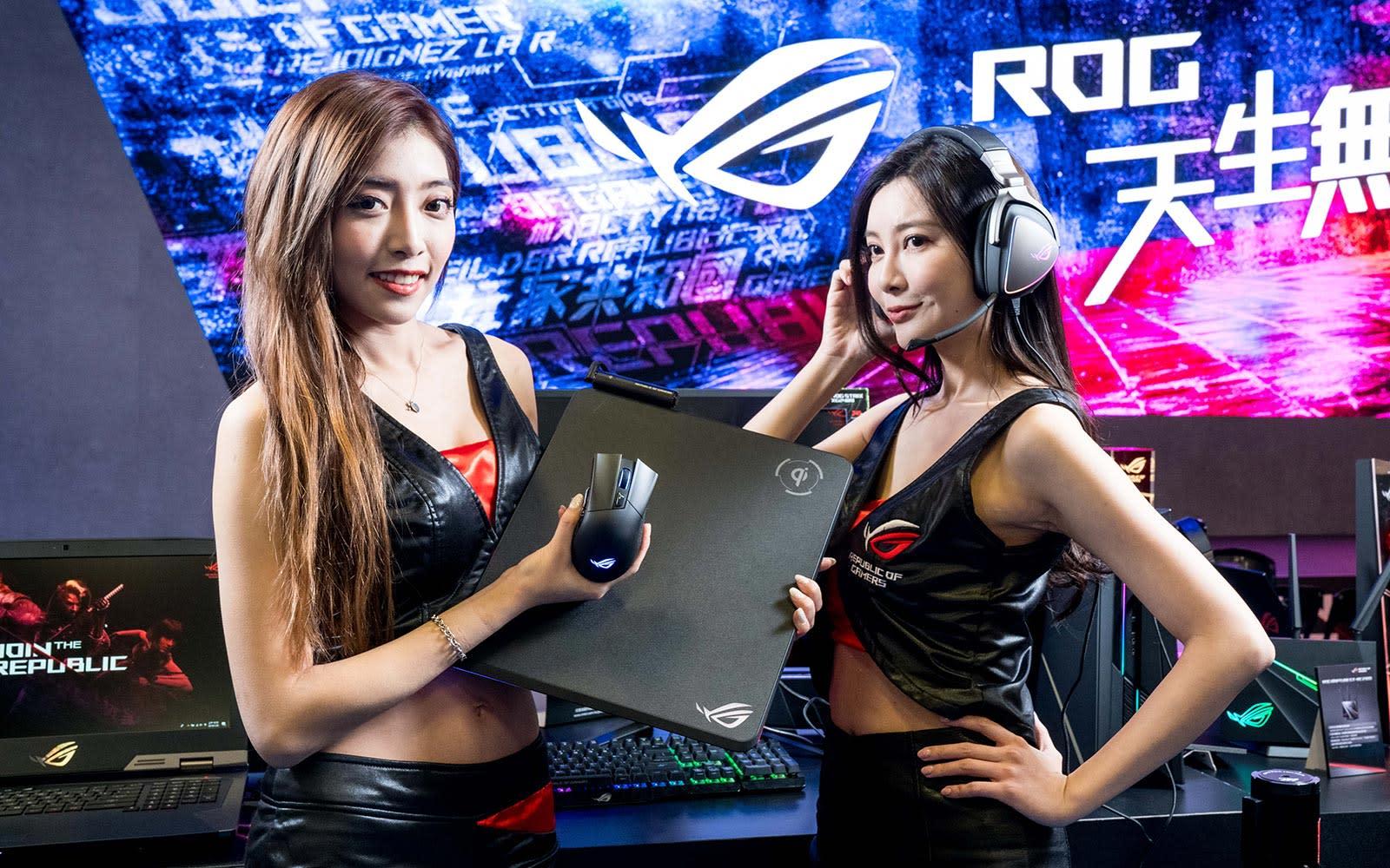 ASUS ROG Gladius II wireless mouse, ROG Balteus Qi mat and ROG Delta Core headphones