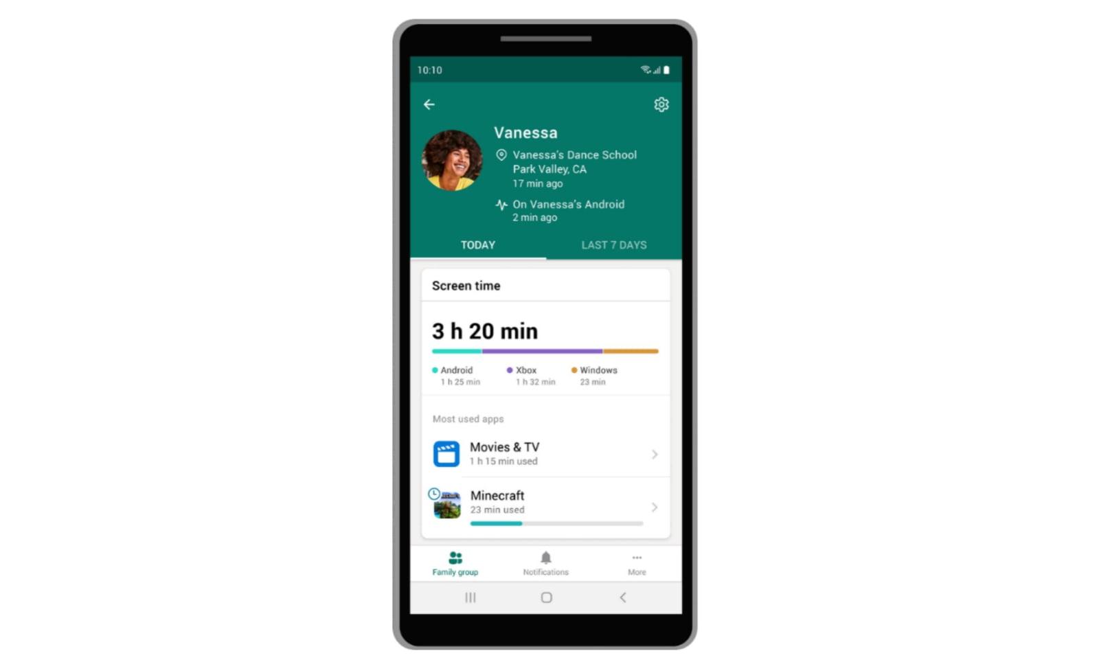 Microsoft family safety app 365