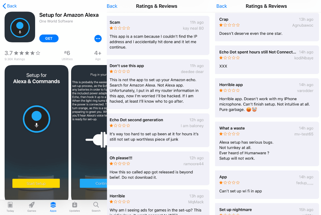 FAke Alexa App