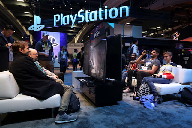 SAN FRANCISCO, CALIFORNIA - MARCH 20: Attendees play with Sony PlayStation games at the PlayStation booth at the 2019 GDC Game Developers Conference on March 20, 2019 in San Francisco, California. The GDC runs through March 22. (Photo by Justin Sullivan/Getty Images)