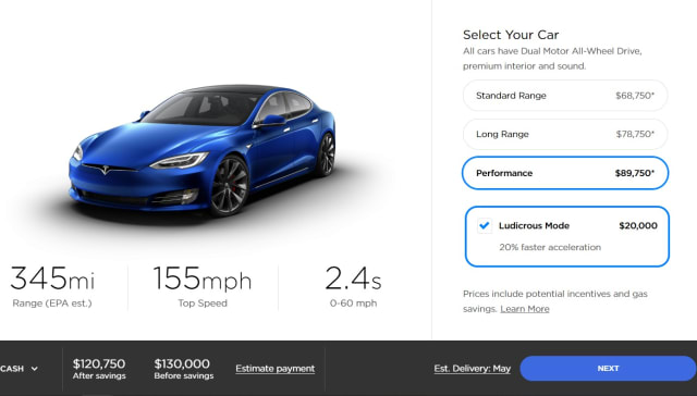 Tesla S Model S And Model X Get New Motors With More Range Engadget