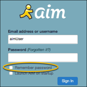 remember password