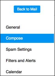 Compose Settings