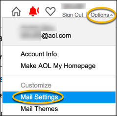 AOL Mail Settings