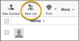 new list button
