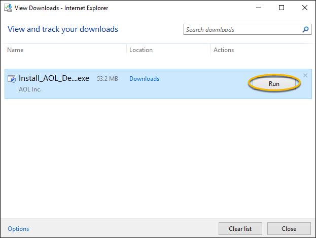 Internet Explorer-Download-Fenster