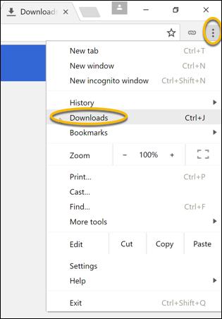 Chrome-Menüschaltfläche