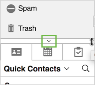 Image of the Expand and Collapse icon in AOL Mai.