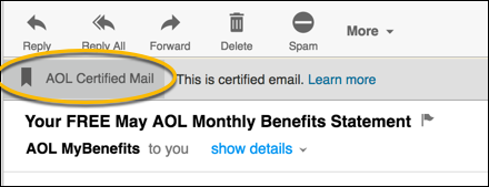 certified aol mail