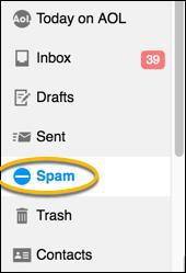 spam button
