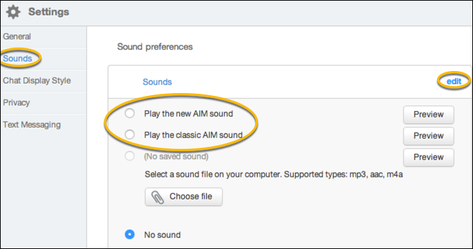 AIM 8 Enable Sounds