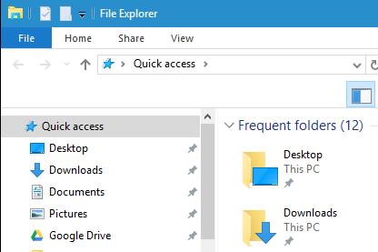 Image of Downloads folder in Windows File Explorer