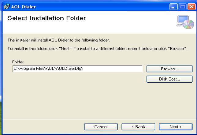 Select Installation folder