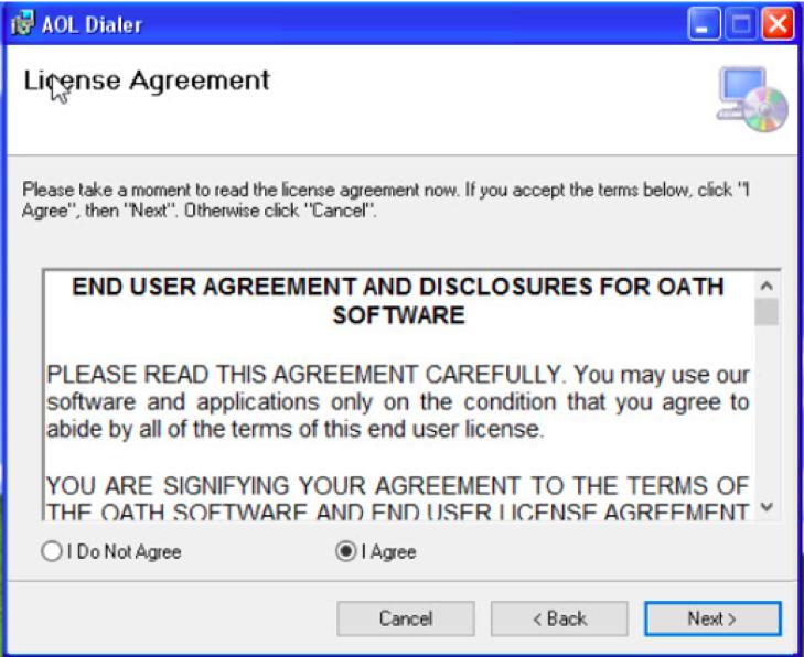 EULA acceptance screen