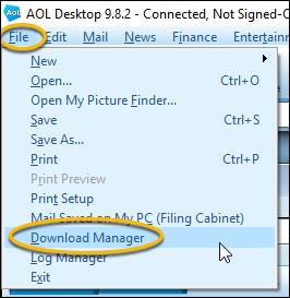download manager menu