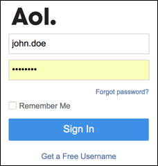 Free Aol Mail Login Page