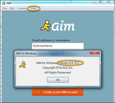 verify aim version