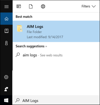 picture showing a search in Windows 10